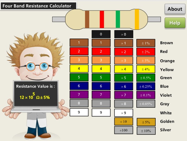 4 Band Resistor Calculator - Articulate Storyline