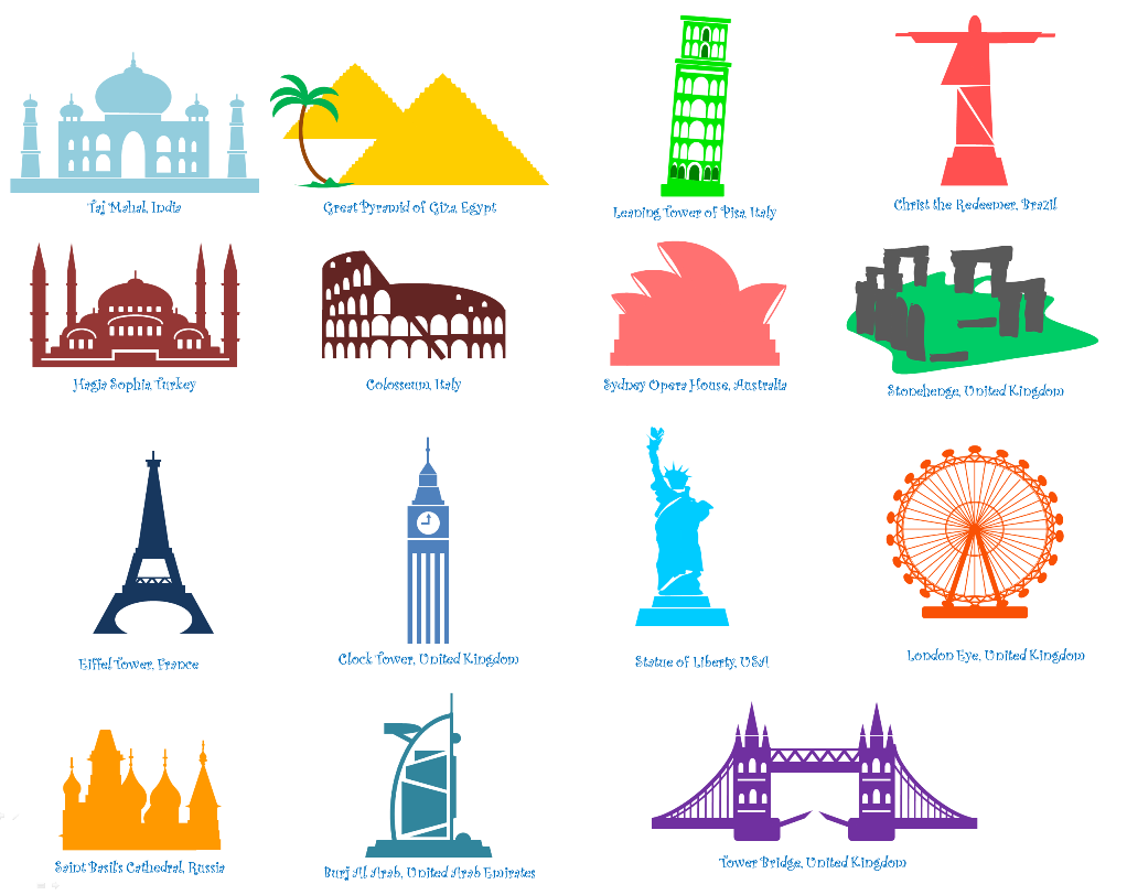 Image gallery landmarks of the world for Famous monuments around the world