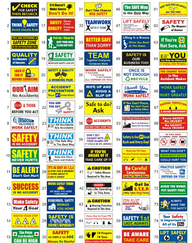 safety logos and slogans safety slogan signs and banners new fashions