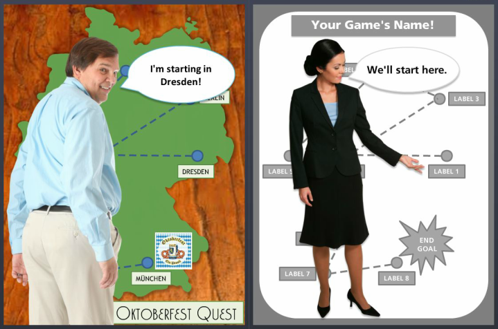 Free Create Your Own Quest Game Template Powerpoint Version