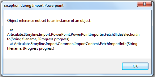 Object reference not set to an instance of an object
