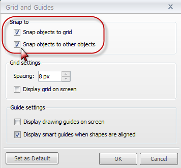 How to turn off Snap to Grid/Guides - Articulate Storyline