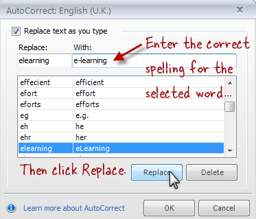 how to delete words from autocorrect s8+