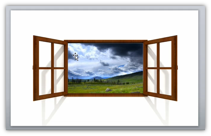Image showing the picture with alpha transparency placed over the top of the video