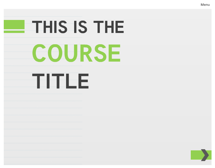 E-Learning Example: Lime Green Template - E-Learning Heroes