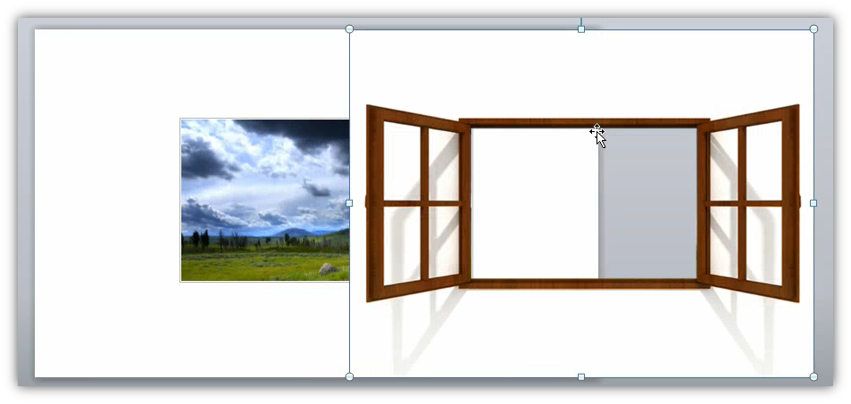Image showing a picture with alpha transparency being placed on the canvas.
