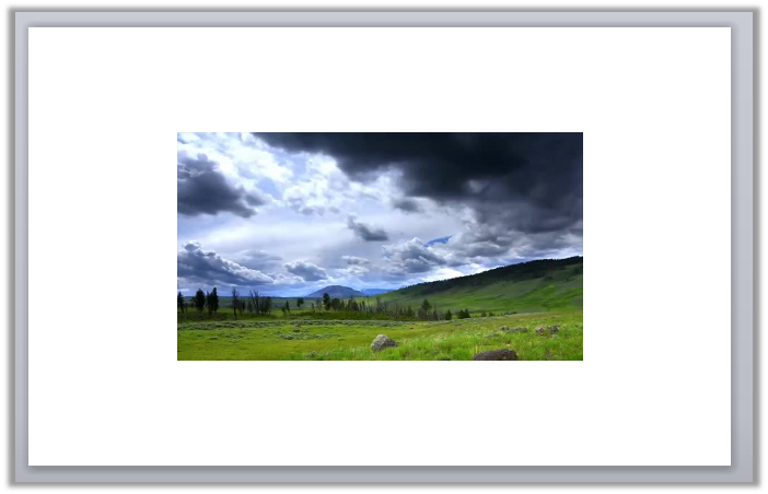 Image showing video placed on the canvas