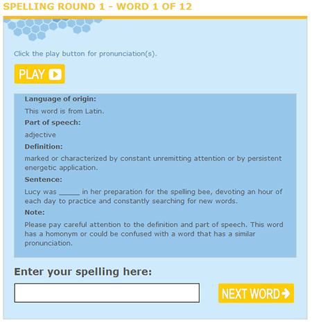 Spelling Bees and Interactive Vocabulary Quizzes #37 - E ...