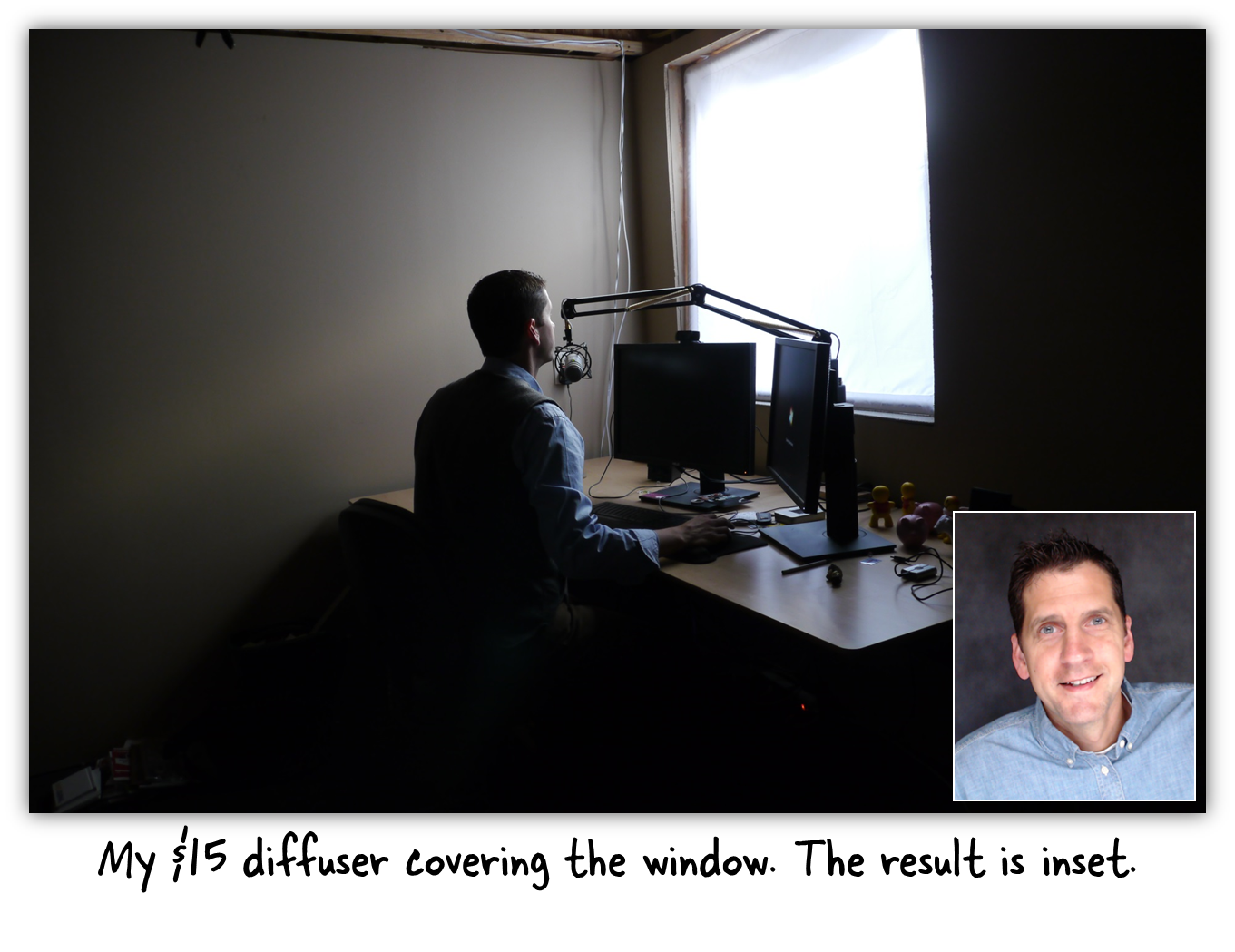How to create quality webcam lighting for less than e