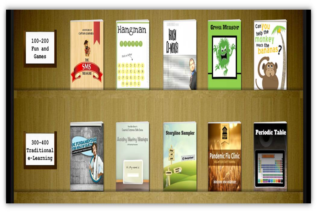 then based on this design i created a template in both powerpoint and storyline for community members to download and use in their projects - Storyline Bookshelf