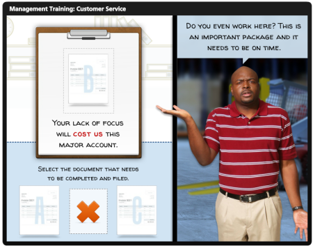 E-Learning Example: Decision-Making Interaction - E-Learning Heroes
