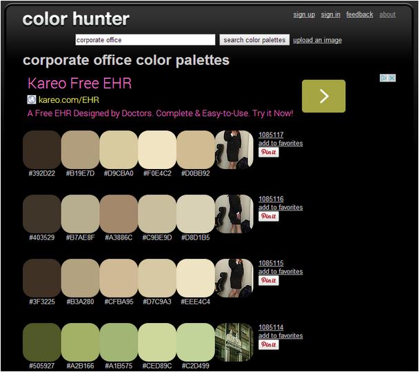 office color palettes. Office Color Palettes