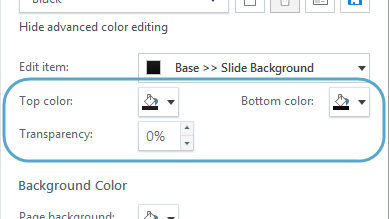the color selectors show several options from your theme colors as well as several standard colors if you donu0027t see the color you want use the eyedropper