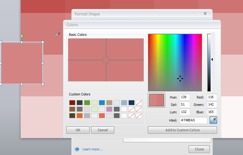 Create color tints and shades with this powerpoint template e picker lets you sample the colors from the template so you dont need to group or save the cubes out as squares toneelgroepblik Gallery