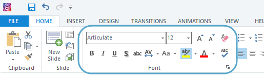 using the font formatting options e learning heroes