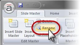 how to use rename master