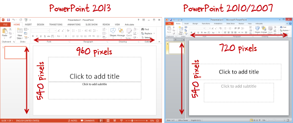choosing a presentation size - e-learning heroes, Powerpoint templates