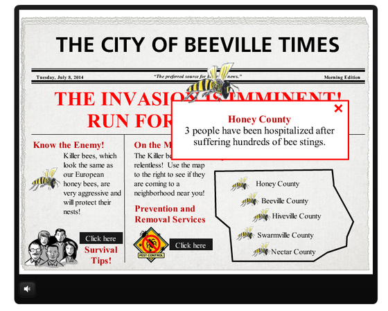 Storyline Newspaper Inspired Interaction E Learning Examples E