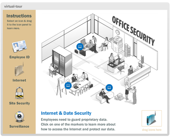 Storyline: Virtual Office Security Tour