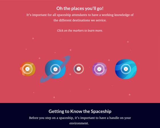 Rise: Space Travel-Themed Infographic - E-Learning Examples - E