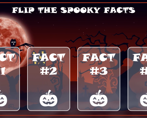 storyline halloween flip cards  elearning examples  e