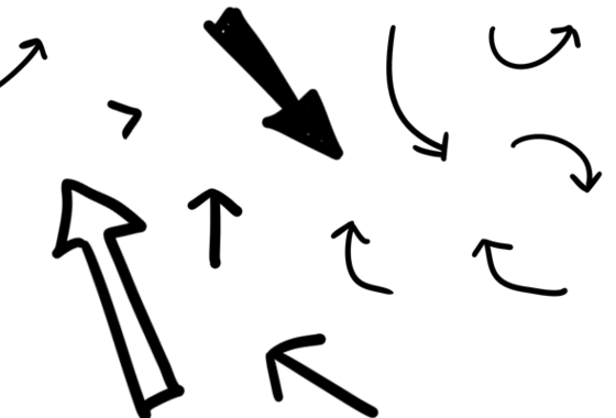 Drawing Lines With Arrows In Photo : Hand drawn black arrows downloads e learning heroes