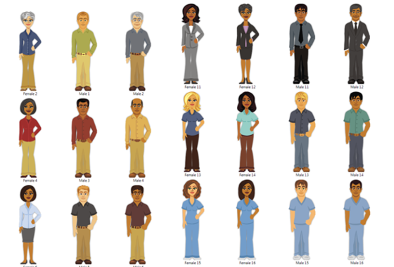 E Learning Cartoon Characters : Quick chart articulate storyline characters downloads