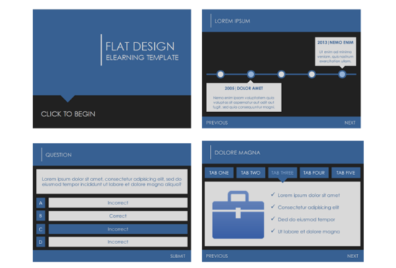 flat design template - downloads