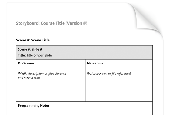 Simple Storyboard Template Downloads ELearning Heroes – Storyboard Sample in Word