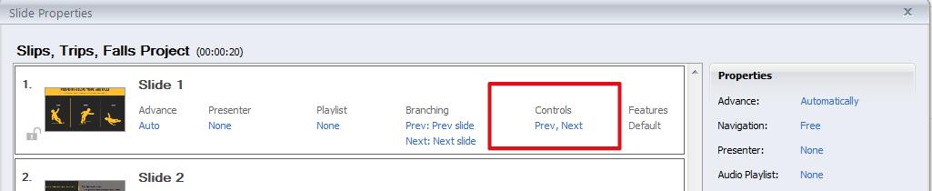 Controls hyperlink in Presenter