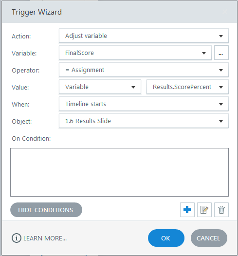 Trigger Wizard variable settings to be able to access Quiz Results in JS upon completion