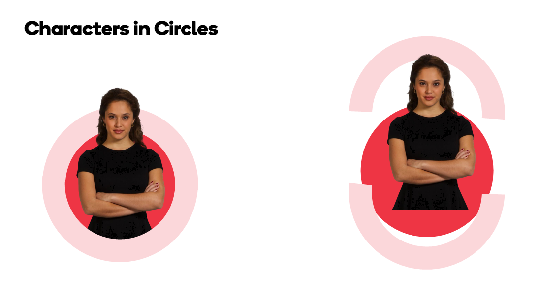 Characters in Circles