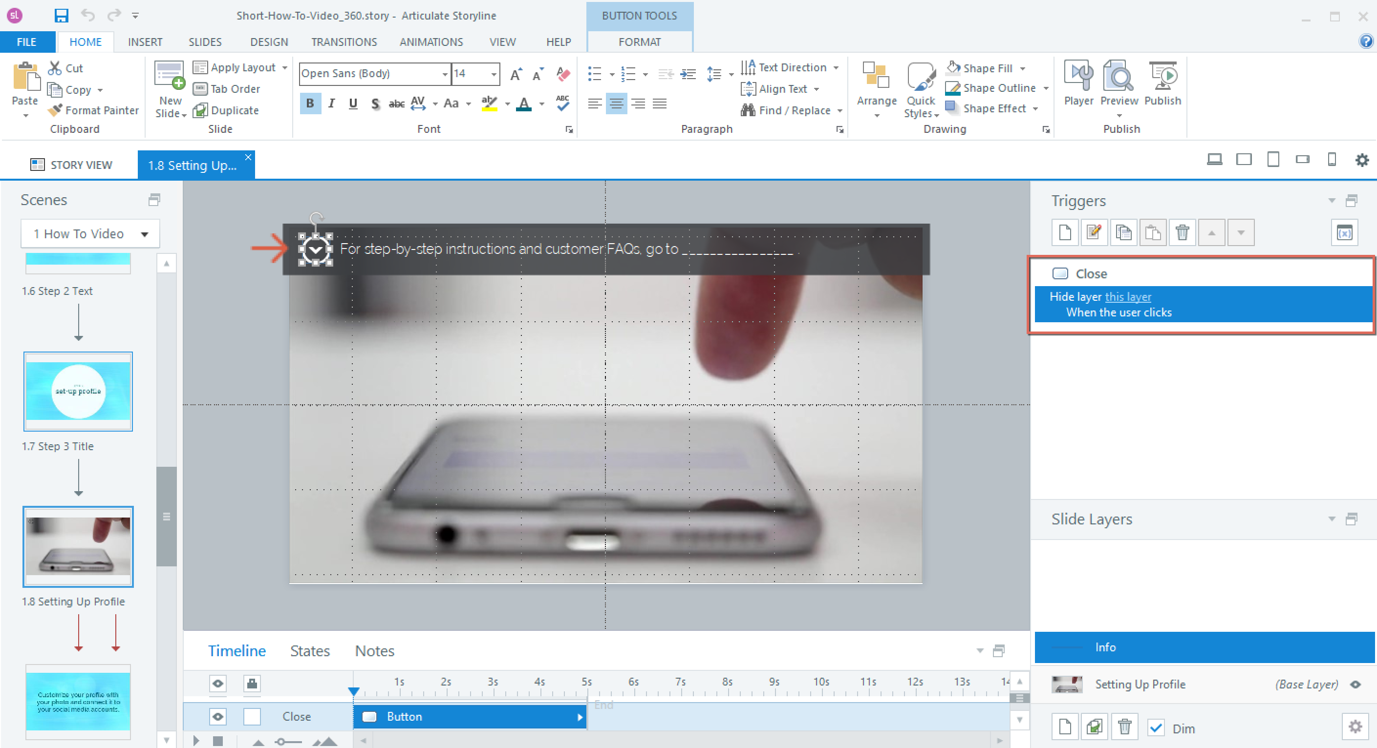 Add a trigger to a layer in Articulate Storyline 360