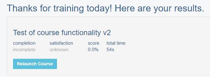 Failed result scormcloud