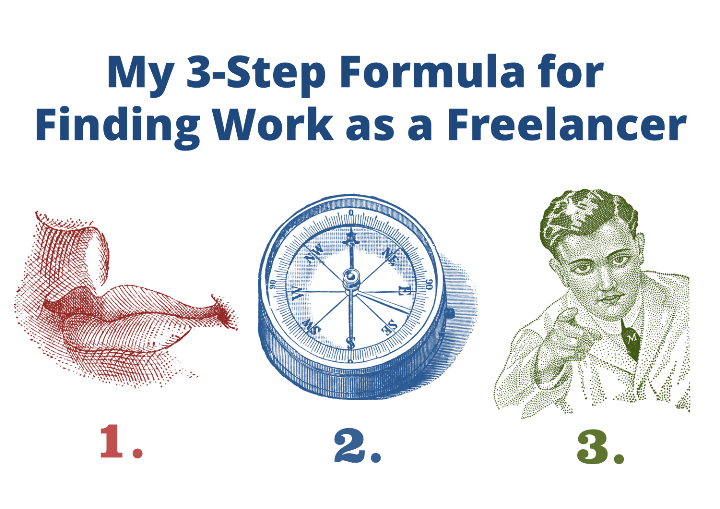 My 3-Step Formula for Finding Work as a Freelancer