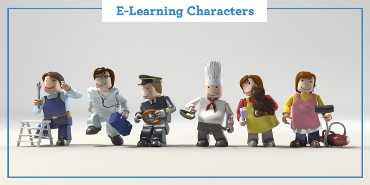 Using E-Learning Characters