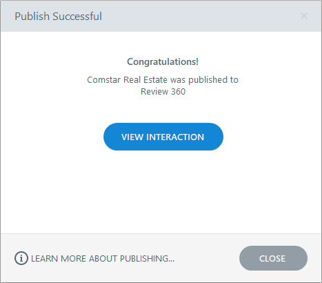 Publish to Review 360