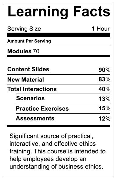 Nutritional Learning Label
