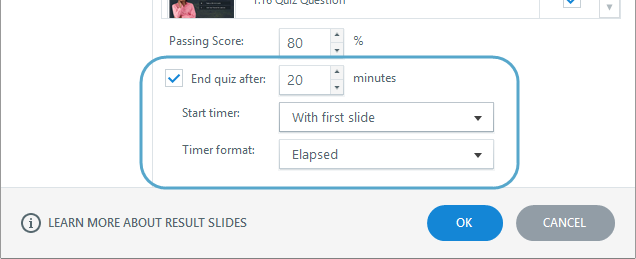 How to set a time limit for your quiz