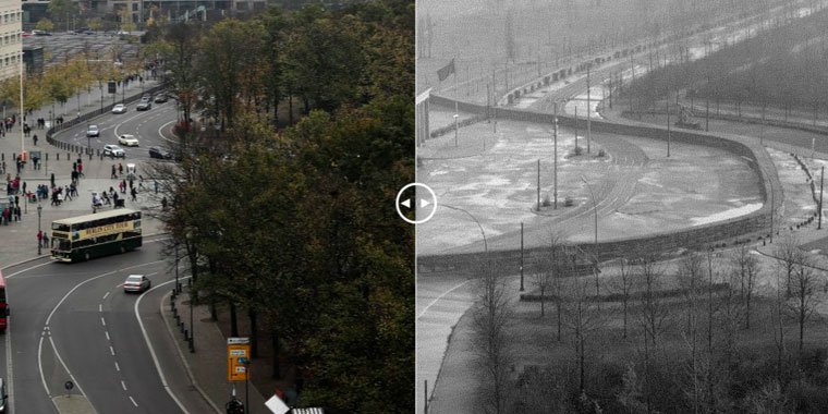 Before and After: The Berlin Wall