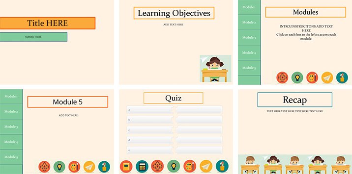 40  brilliant course starter templates for e