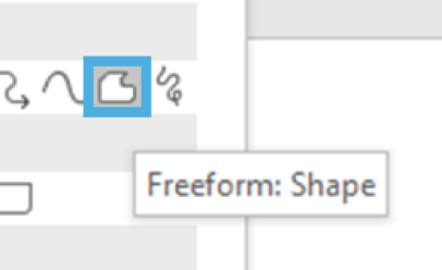 Screenshot: Freeform Shape Icon
