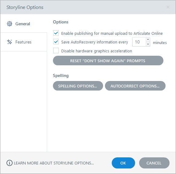 Storyline Options