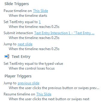 triggers panel