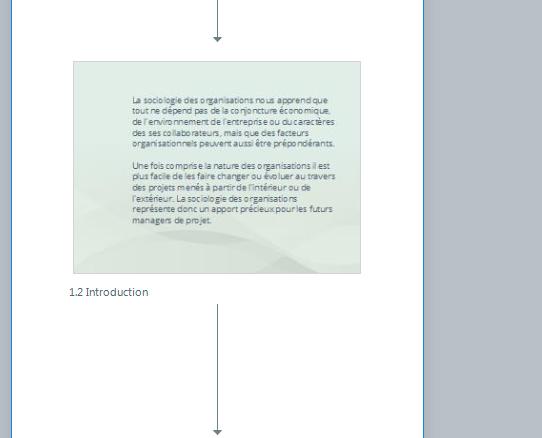 Mise en page correcte (preview de la scène)