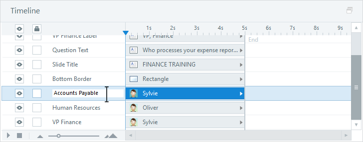Use the Timeline Panel to Rename Slide Objects in Articulate Quizmaker 360