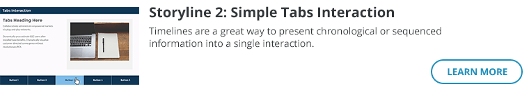 Storyline 2: Simple Tabs Interaction