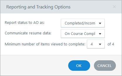 Reporting and Tracking Options