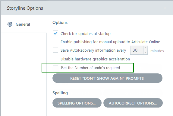 New Settings for Articulate