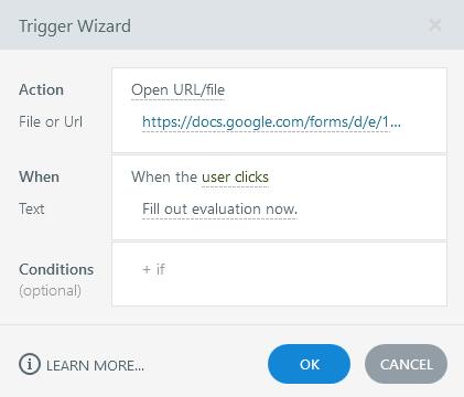 Trigger Wizard Screenshot